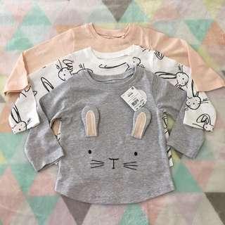 NEXT 3 Pack Bunny Longsleeves