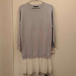 Lovfee紫灰色針織洋裝