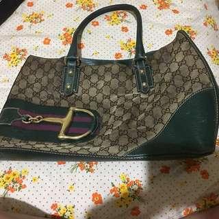 Authentic Gucci olive handbag