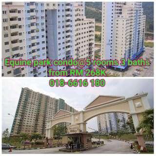 Equine Park Condo@ SERI KEMBANGAN - 5 Rooms 3 Baths from RM268k