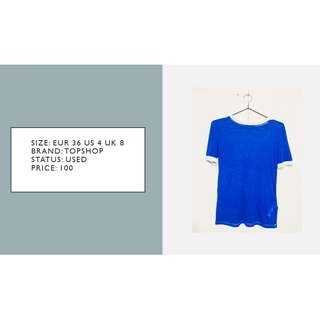 Topshop Royal Blue Shirt