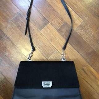 Charles & Keith Fur Handbag