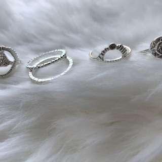 5 pairs of rings
