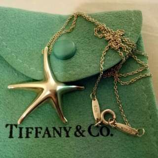 Tiffany & Co starfish pendant necklace