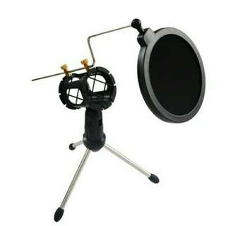 Microphone Stand with Pop Shield
