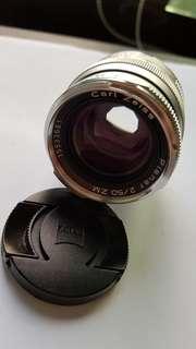 Leica M9 lens Carl Zeisi f2 50mm