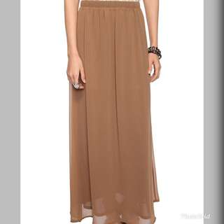 Khaki brown/beige Maxi Skirt