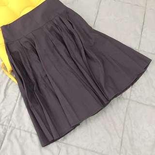 Midi Flare Skirt Size S M Rok Lipat Rok Lingkar Rok A Line Dark Brown Coklat tua