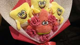 Spongebob pathrick plush toys boquet