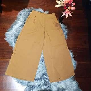 Indikah Tan Culottes Size 6