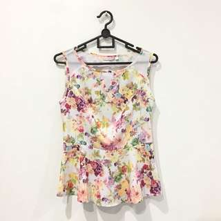Flower Peplum