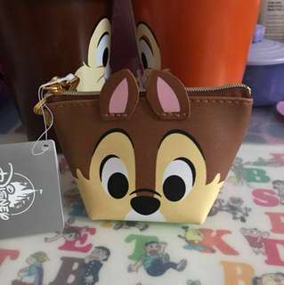 Disney Chip and Dale coins bag, Chip n Dale 散紙包