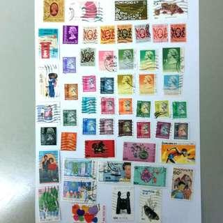 舊回歸前郵票54枚