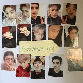 EXO Official EX'ACT For Life Photocards