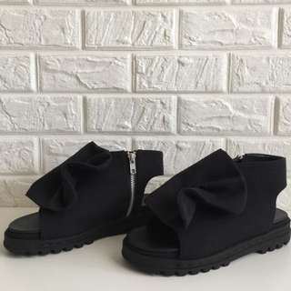 Sandal Gilda Bow Black by MKS Shoes