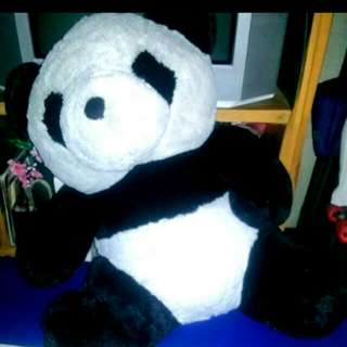 Large panda stuffed bear