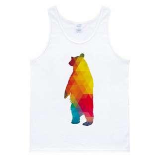 Geometric Bear 背心 白色 幾何 抽象 熊 設計 藝術 插畫