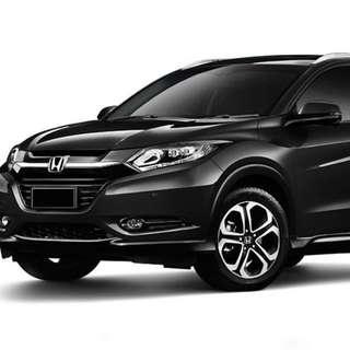 Black Honda Vezel For Rent