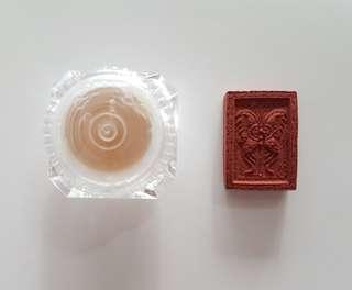 Kruba Krissana Mini Butterfly Amulet + Numlerk Metta Cream