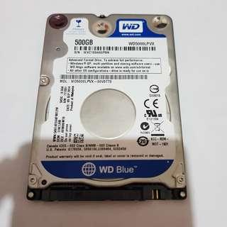 """2.5"""" inch Western Digital WD Scorpio Blue 500 GB Hard disk drive"""