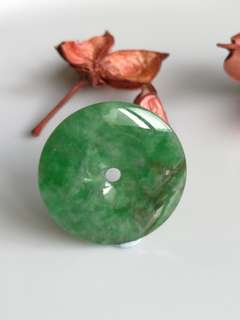 $68 Fixed Sales Type A Jadeite Jade Imperial Green Donut Pendant