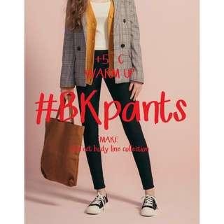 全新 PAZZO MIT#BK101經典顯瘦合身保暖黑褲 內刷毛