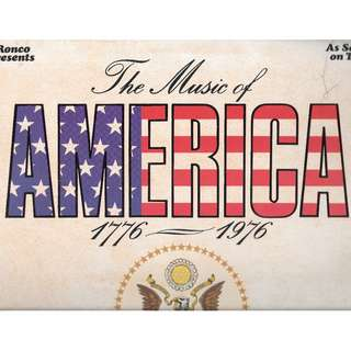VINYL RECORD 33RPM -AMERICA 1776 TO 1976 - 40 GREAT SONGS .RELEASED IN 1976 .WITH SONG BOOK -