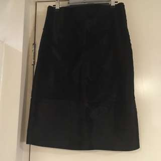 Clad leather skirt size GB 10