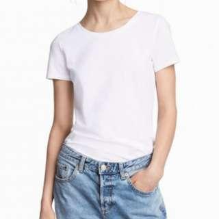 h&m basic plain t-shirt