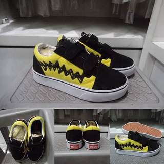 Sepatu Vans Old Skool Kids Peanut Charlie Brown Premium