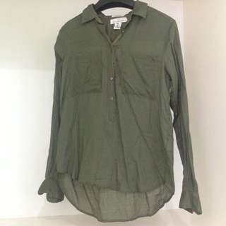 H&M Army Green Polo