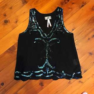 Lipsy sequin Blouse - brand new