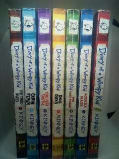 Diary Of A Wimpy Kid by Jeff Kinney Book 1-7 Set