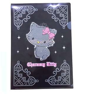 Sanrio Charmmy Kitty Black L Shape Plastic A4 File