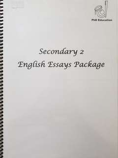LOWER SECONDARY ENGLISH MODEL ESSAYS