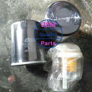 Proton all type oil filter 2pcs free 1 wira fuel filter