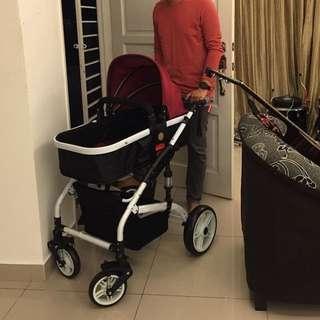 sokano anti shock stroller
