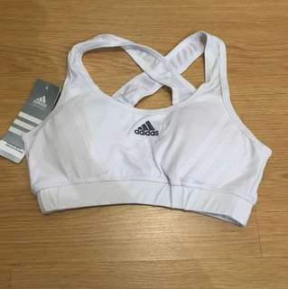 Adidas Sports Bra with Pads - White (Medium)