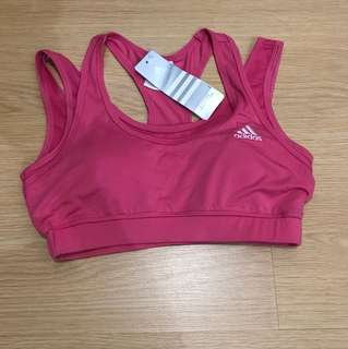 Adidas Sports Bra with Pads - Pink (Large)