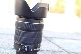 Canon efs 18-135mm stm + hood