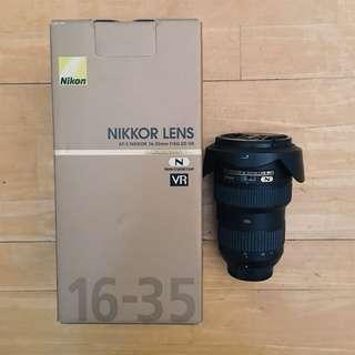 Nikon 16-35mm f/4G AF-S Nikkor ED VR