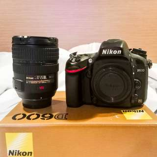 Nikon D600 Full set with box bundle with 24-120mm f3.5/5.6 Lens