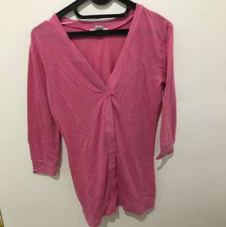 Long cardigan pink cotton on