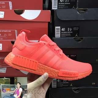 現貨Adidas NMD ColourBoost R1 全紅 紅椰子跑步鞋 S31507正品