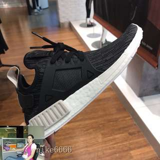 adidas阿迪達斯NMD XR1 Pk 黑白 休閑運動鞋跑鞋