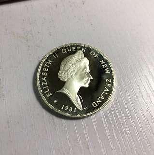 New Zealand 紐西蘭 限量版 紀念幣 1981 One dollar 1元
