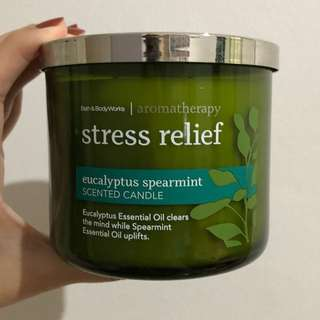 Bath & Body Works Stress Relief Scented Candle
