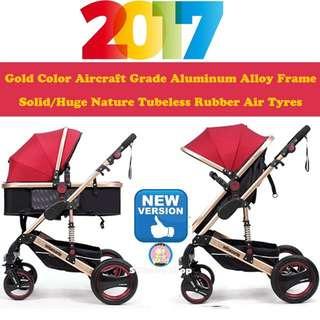 💯2017Brand New German design Wisesonle 4Air tyres baby stroller/pram/Offer/limited stock/fully aluminum/special offer