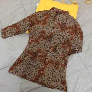 Baju Batik kantor kerja formal Lengan 3/4 Size M