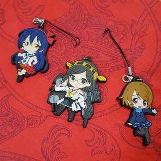 Assorted Anime Rubber Keychains
